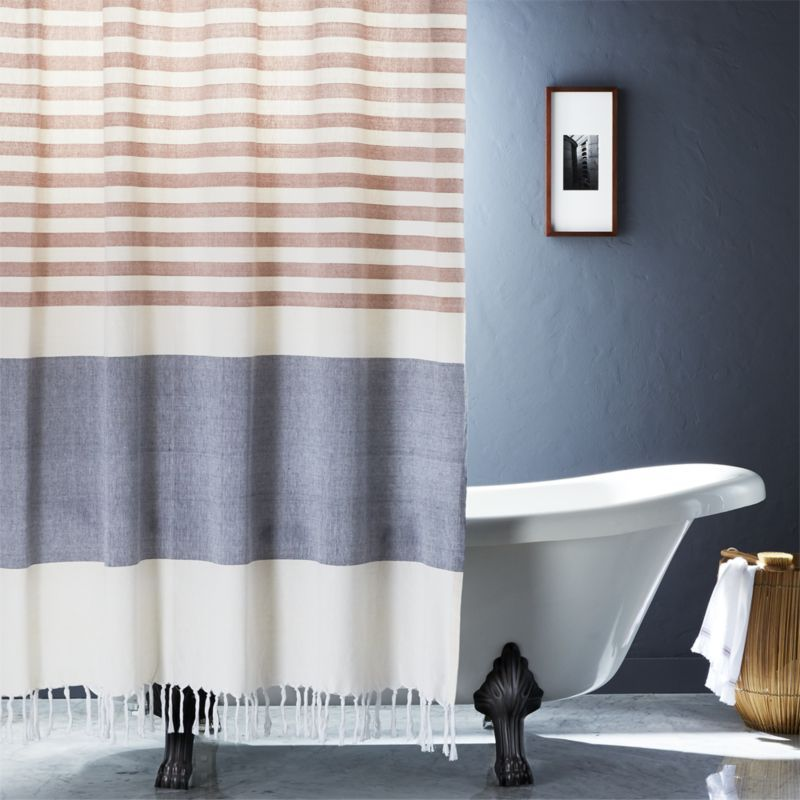Karla Copper Shower Curtain Modern Shower Curtains Modern