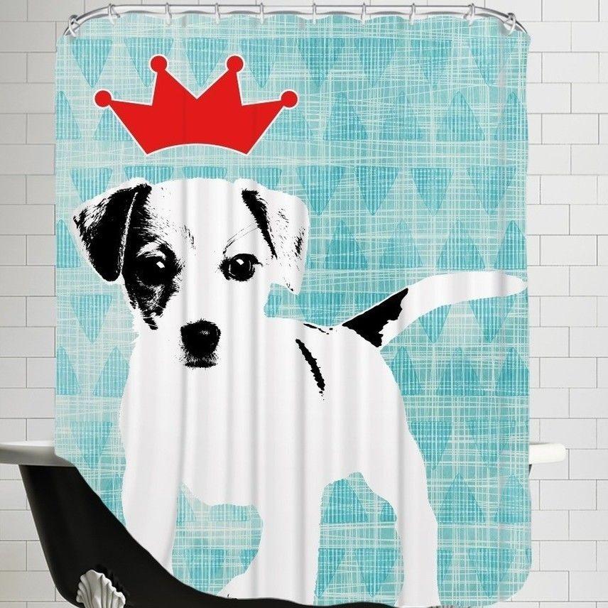 Ikonolexi Dog 1 Shower Curtain