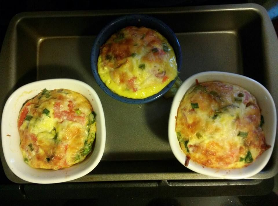 Mini egg and hash brown omelettes