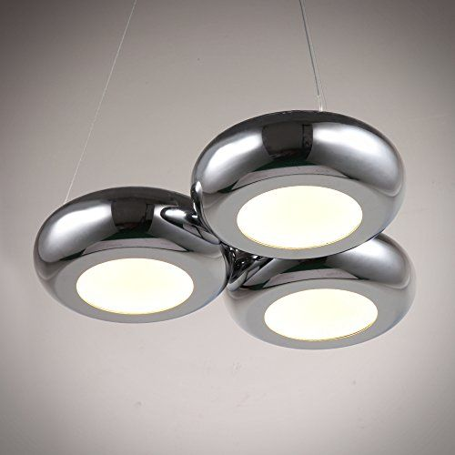 NATSEN LED Modern Pendant Light 3Light Metal Pendant Lamp 36W ...