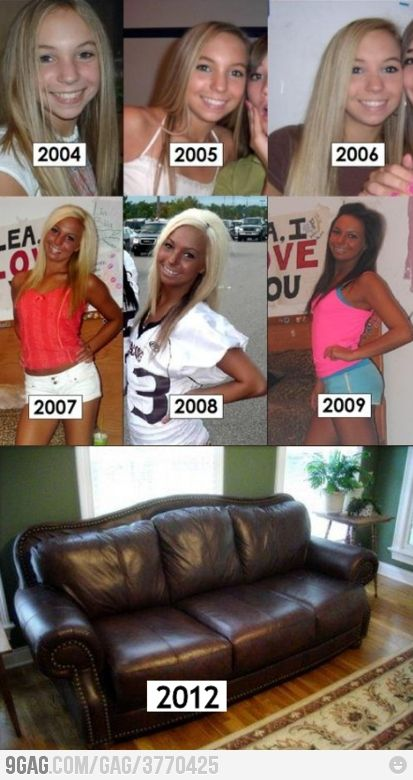It's amazing how much a girl can change in a few years!