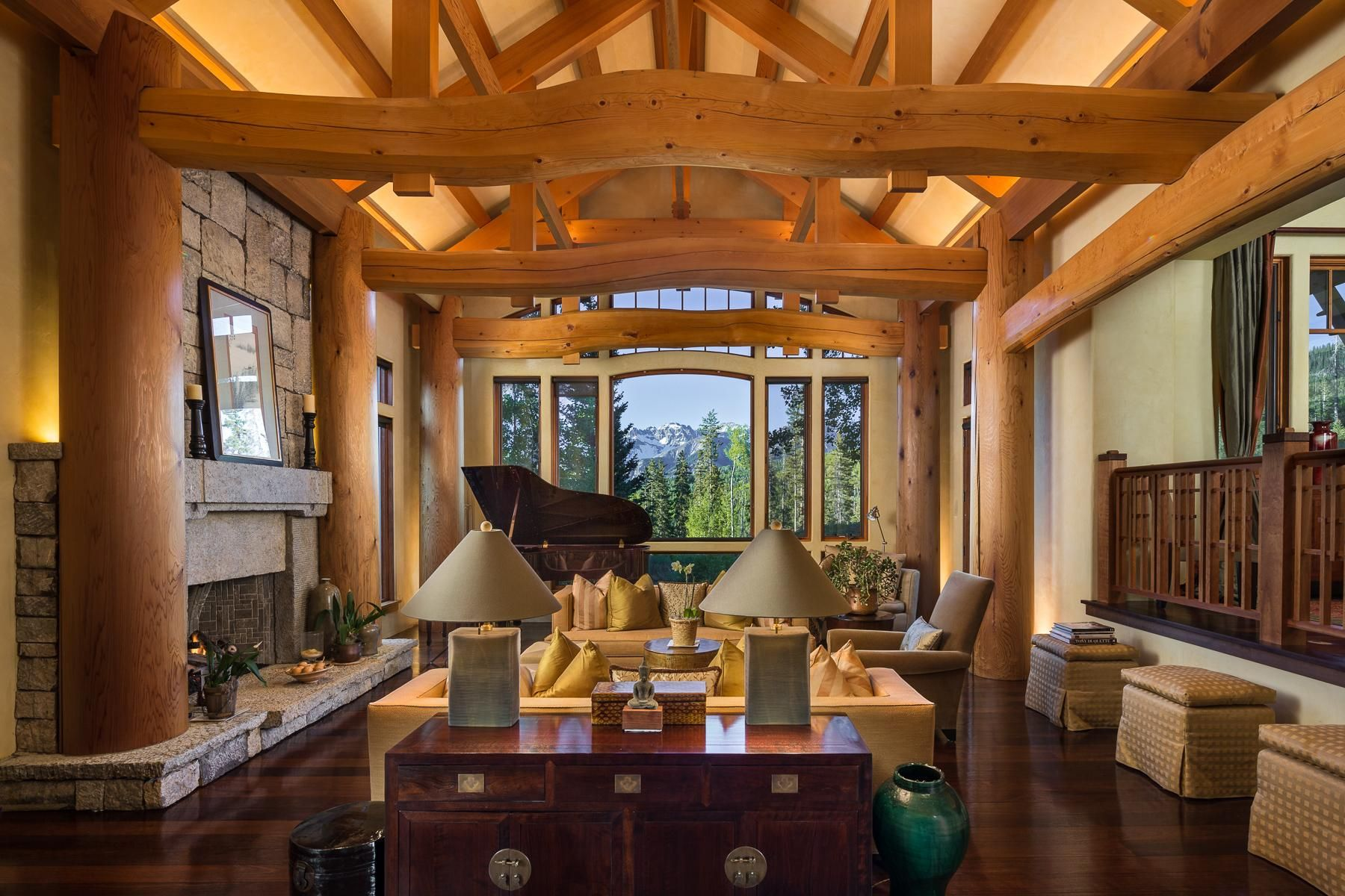 Bright Cheerful Living Room with Ski In/Ski Out Access to Telluride. Asking $7.3million. [1800x1200]