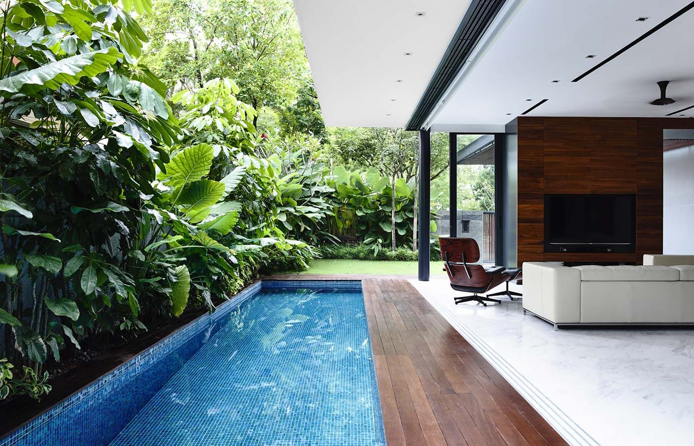 Hyla Architects Award Winning Singapore Architect Firm Pool Houses Indoor Swimming Pool Design Backyard Pool Designs