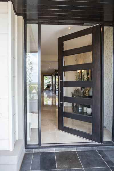 aluminium pivot doors - Google Search & Front doors - exclusive doors - Aluminium doors + 2 side elements ... Pezcame.Com