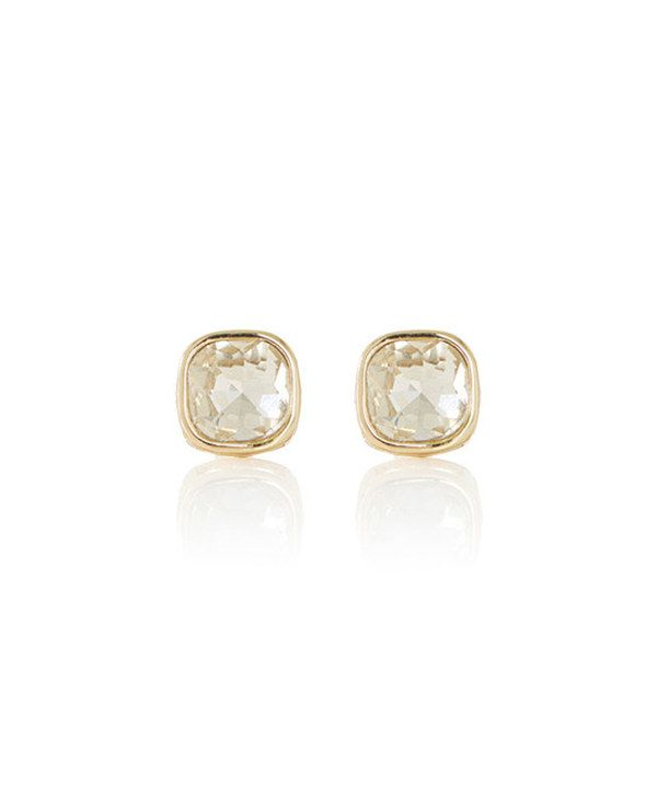 Look at this Gold Glimmering Stud Earrings on #zulily today!