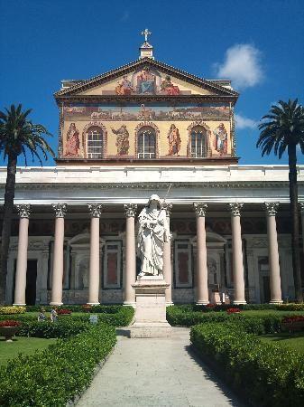 Abbazia Di San Paolo Fuori Le Mura Rome At Night Rome Italy Rome Attractions