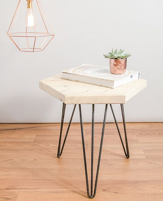 NEW Geometric Coffee / Side Table Made From By