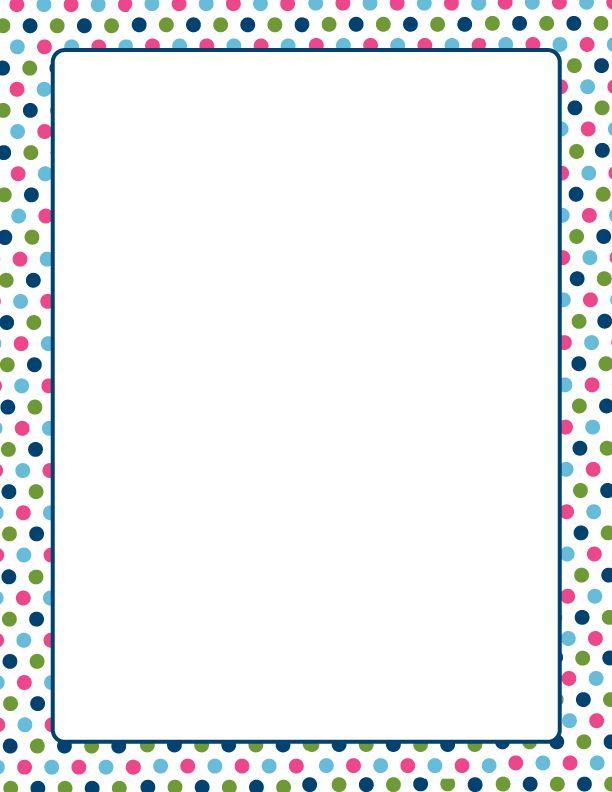 Multi Color Polka Dots Letterhead 8 5x11 25 Pk Polka Dot Paper