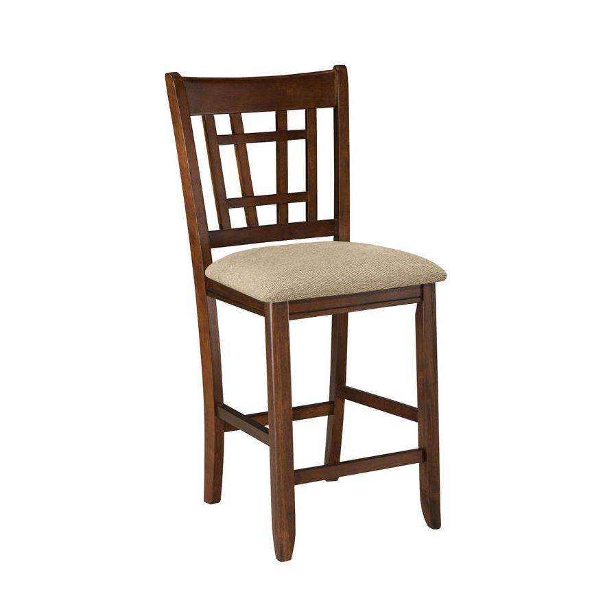 Intercon mission casual dark planed oak counter height barstool set