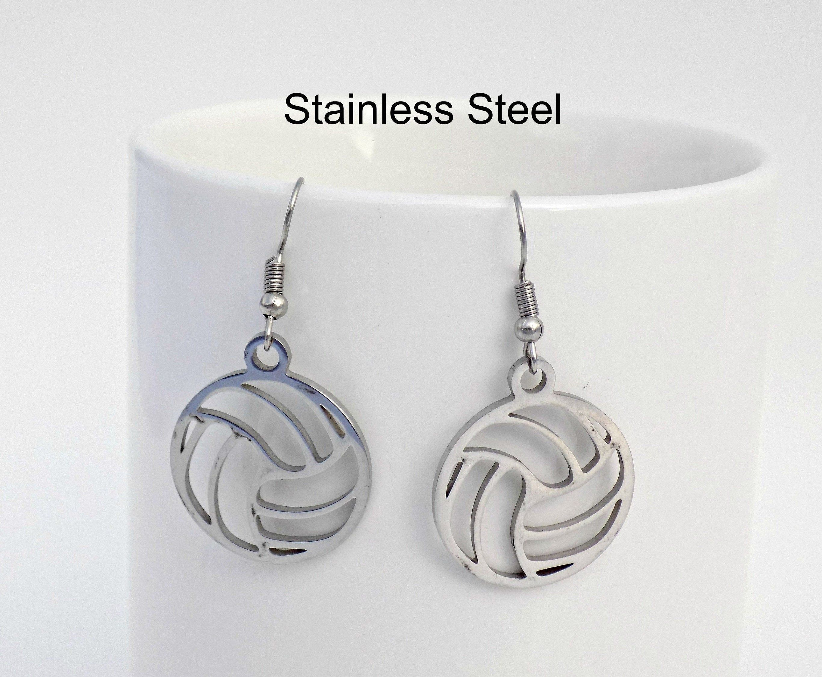 Volleyball Earrings Volleyball Jewelry Volleyball Gift For Girls Volleyball Coach Gift In 2020 Volleyball Jewelry Football Jewelry Tennis Jewelry