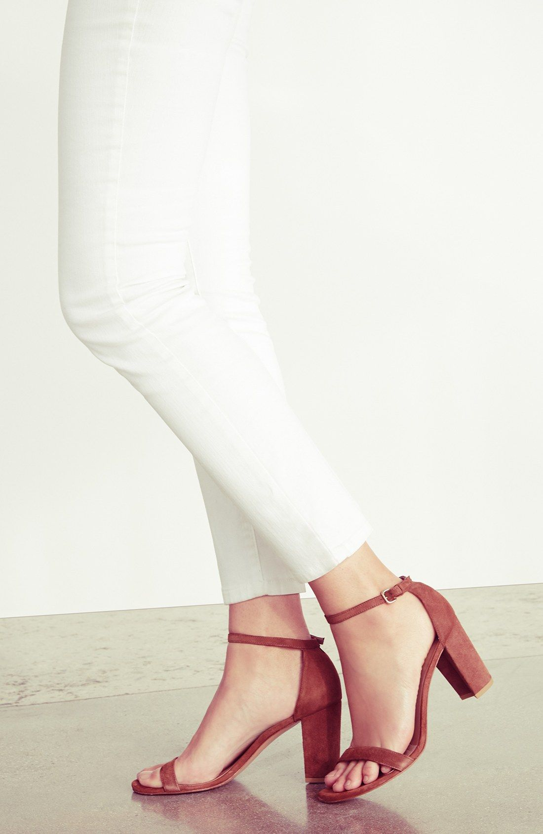 65e9505778 Stuart Weitzman 'NearlyNude' Ankle Strap Sandal (Women) | Outfit ...