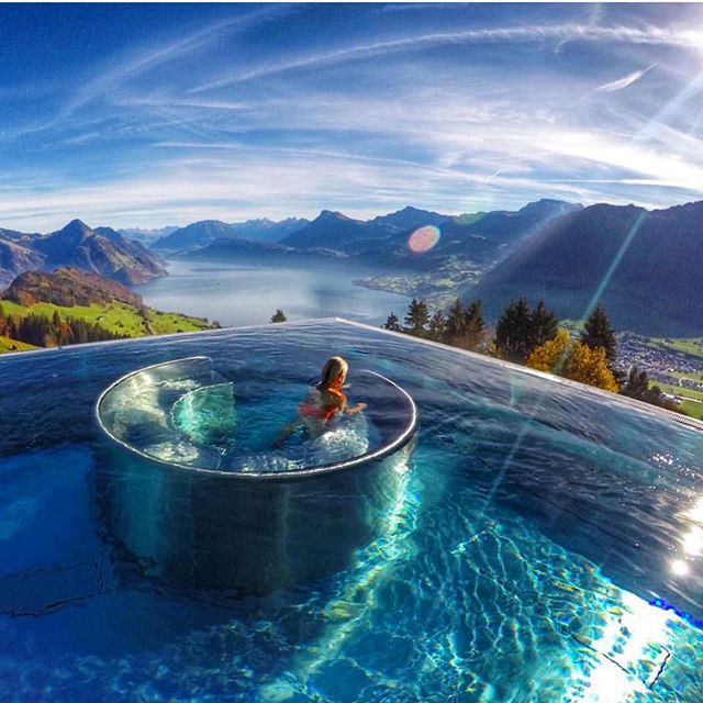 "Vacation bliss at the Villa Honegg Hotel in Entenburg, Switzerland courtesy of @lalarebelo_travelblog ━━━━━━━━━━ Hashtag your best pictures/videos taken in #Switzerland with #luxwt or #luxuryworldtraveler for a chance to be featured. ━━━━━━━━━━ ""Dre"