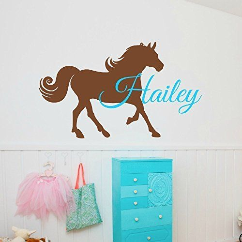 Horse Wall Decal With Name *** Read More At The Image Link.