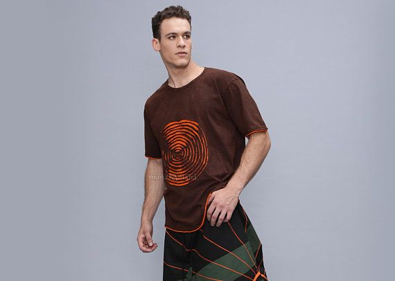 c64f4618167 Men s Tee Shirt - T Shirt - Cut out - Stone washed - Cotton - Sweatshirt -  Festival
