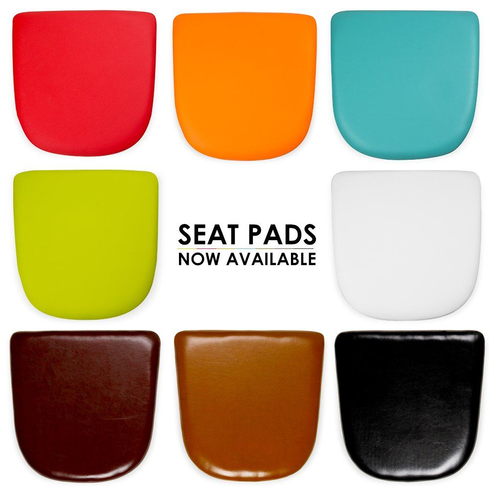 leather chair pads cheap white kitchen chairs charles eames faux seat for tolix style table