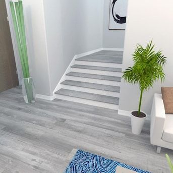 Best Cali Bamboo Gray Ash Stair Tread Lowes Com In 2020 Stair 640 x 480