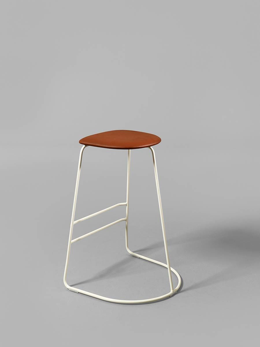 Citizen Ghost 650mm stool in white with leather upholstery | Chairs ...