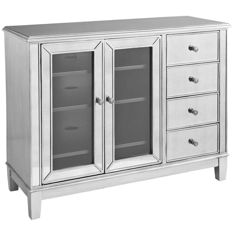 Hayworth Mirrored Silver 48 Tv Stand Mirror Tv Stand Mirrored