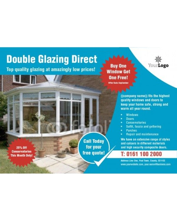 window fitters a6 leaflets template designs we like pinterest