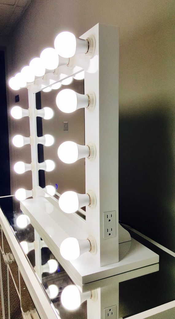 Dimmable Xl Grand Hollywood Impact Lighted Vanity Mirror Free Led