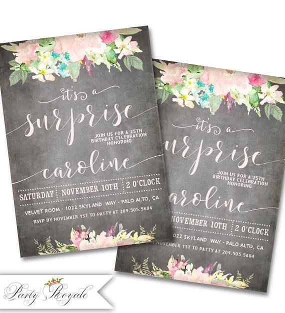 Surprise Birthday Invitation Surprise Party Invitation 21st - birthday invitation for adults