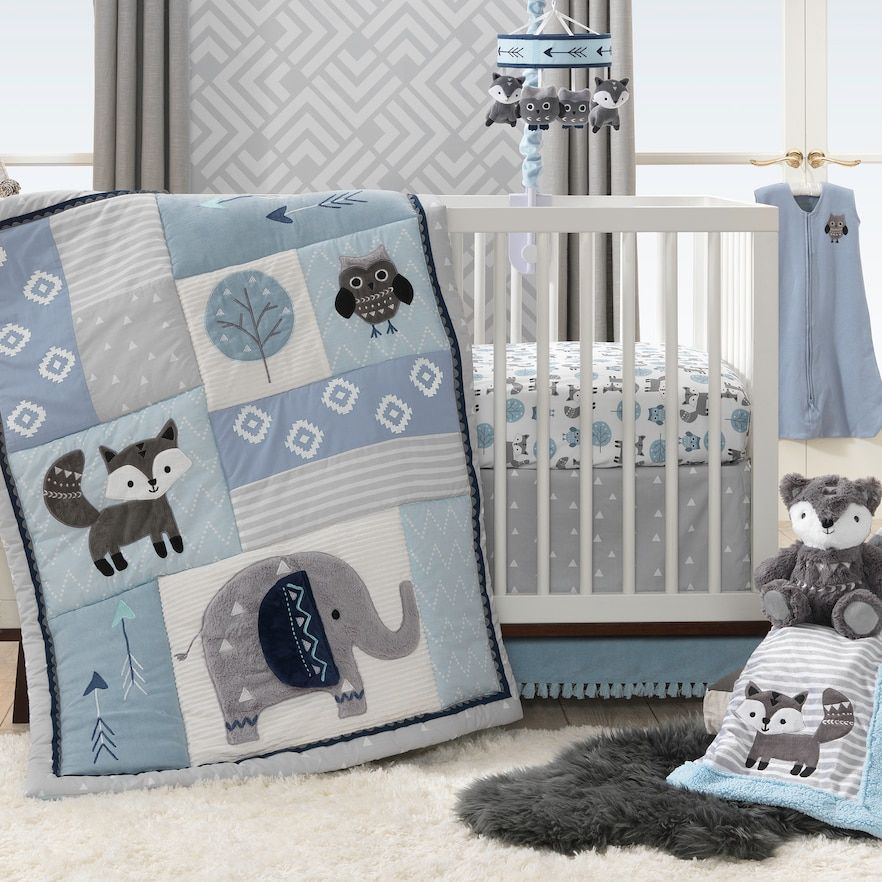 Ivy 4 Piece Stay Wild Crib Bedding Set