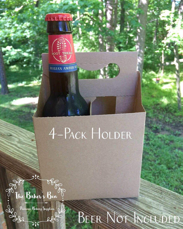 4 Pack Beer Carrier 12 Oz Bottle Holders Kraft Cardboard Beverage Carrier 5 X 5 X 7 1 4 Craft Beer Wine Bottle Carrier Beer Carrier Drink Carrier