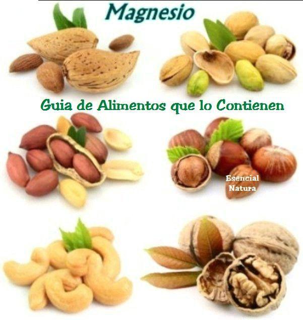 Guia de alimentos ricos en magnesio para una buena salud pinterest - Alimentos ricos en gluten ...