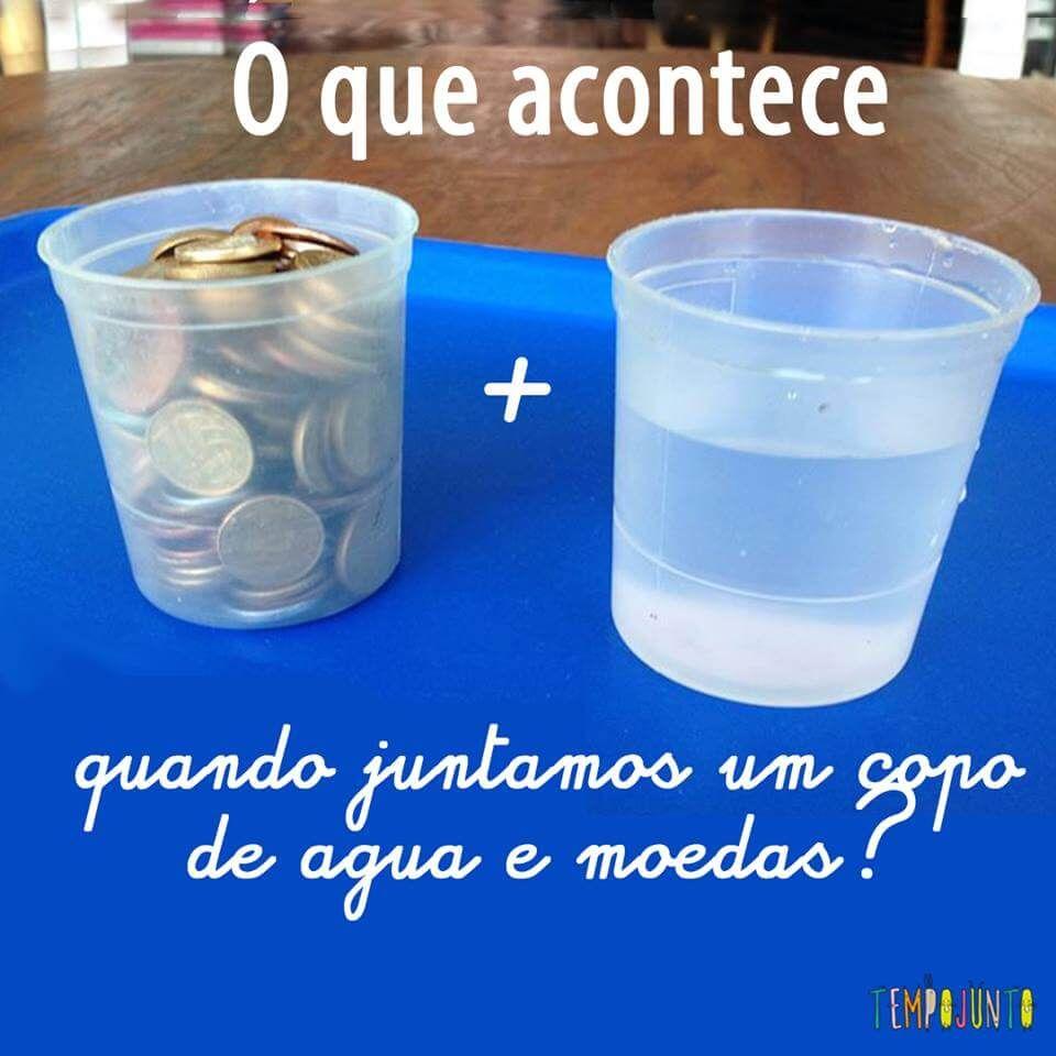 Hora Do Experimento De Ciencias Propriedades Da Agua Com Imagens
