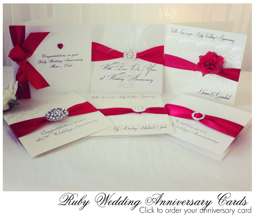New ruby red ribbon in for Our Luxury Ruby Anniversary Cards/40th ...