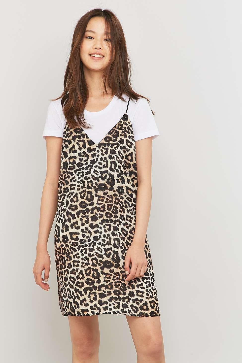 4bee7f91e8 Sparkle   Fade Animal Print Slip Dress