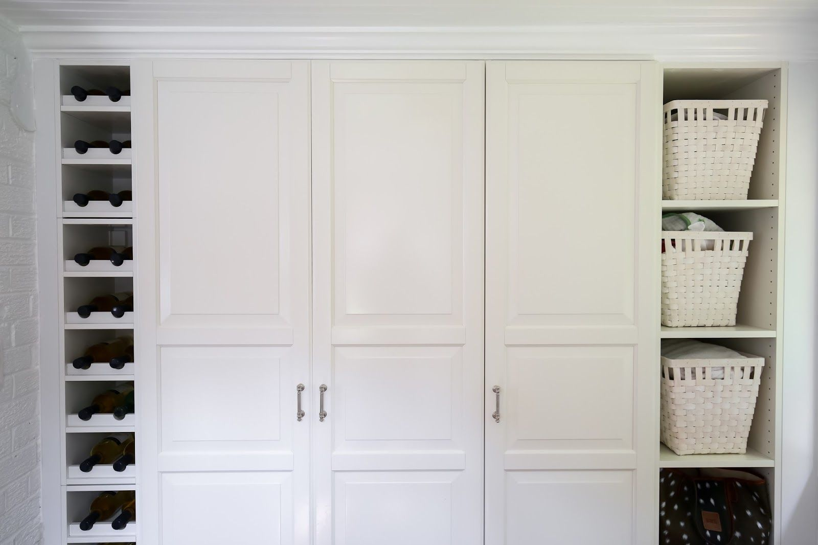 Haute Indoor Couture: Our Mudroom Before And After   Ikea Hack Built In  Closet Shelving Mudroom Storage