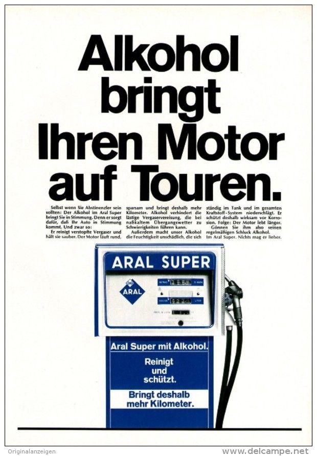 Original-Werbung/ Anzeige 1969 - ARAL MIT ALKOHOL - ca..