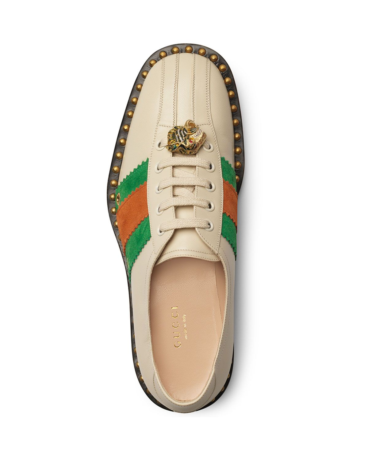 Gucci Leather Lace-Up Bowling Shoe