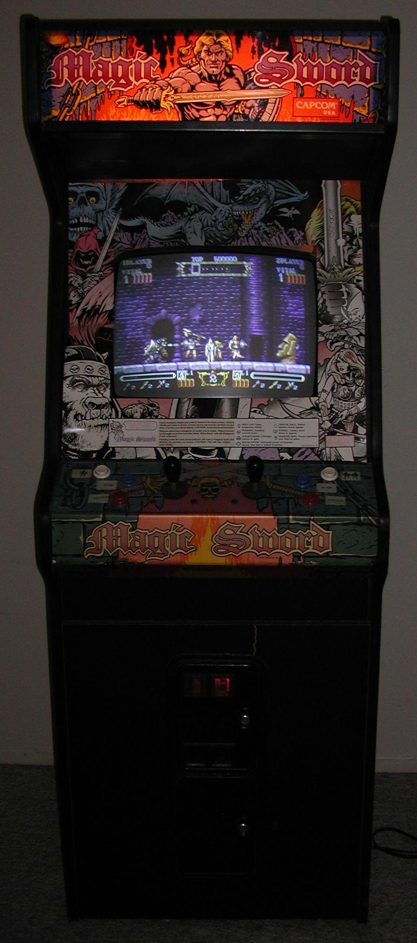 Magic Sword arcade cabinet | The Arcade is on Fire | Pinterest ...