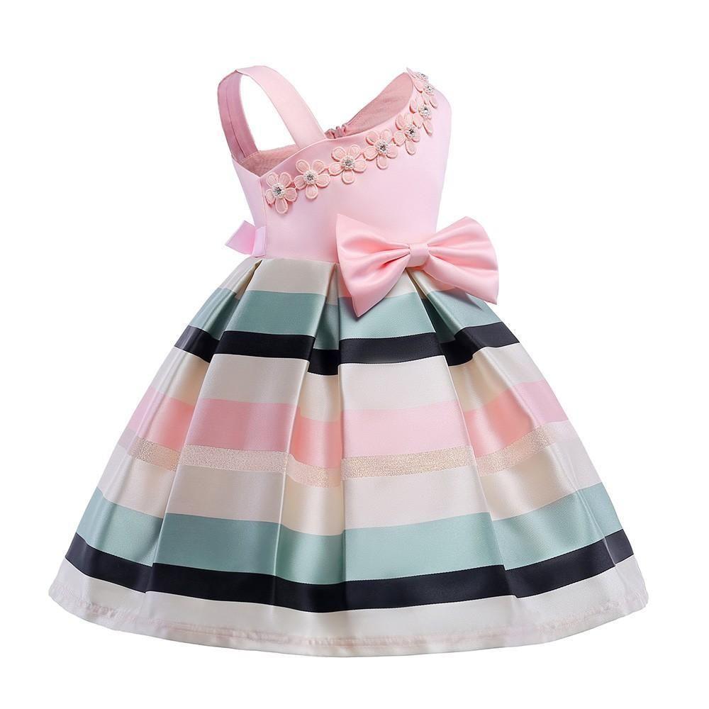 US Toddler Baby Girl Ruffle Tutu Dress Party Princess Pageant Irregular Sundress
