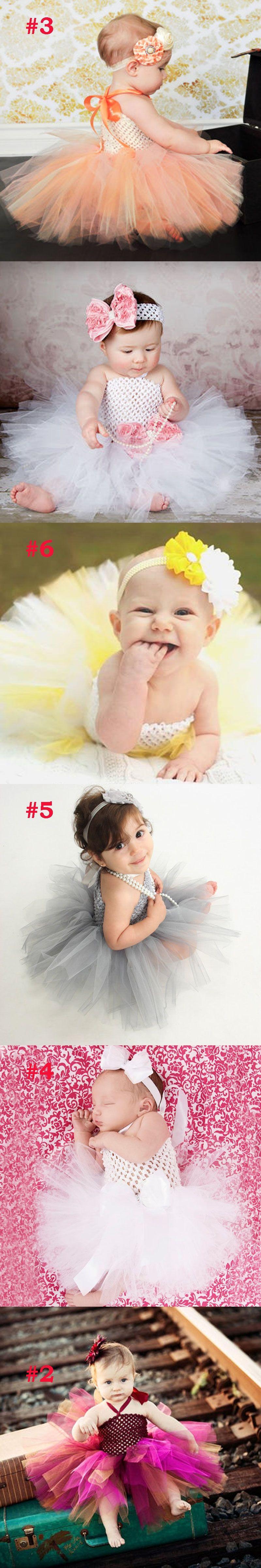 Toddler Girls Fancy Princess Tutu Dress Holiday Flower Double Layers