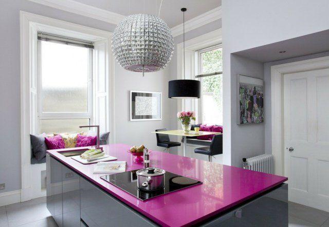 73 idées de cuisine moderne avec îlot, bar ou table à manger - Table De Cuisine Avec Plan De Travail