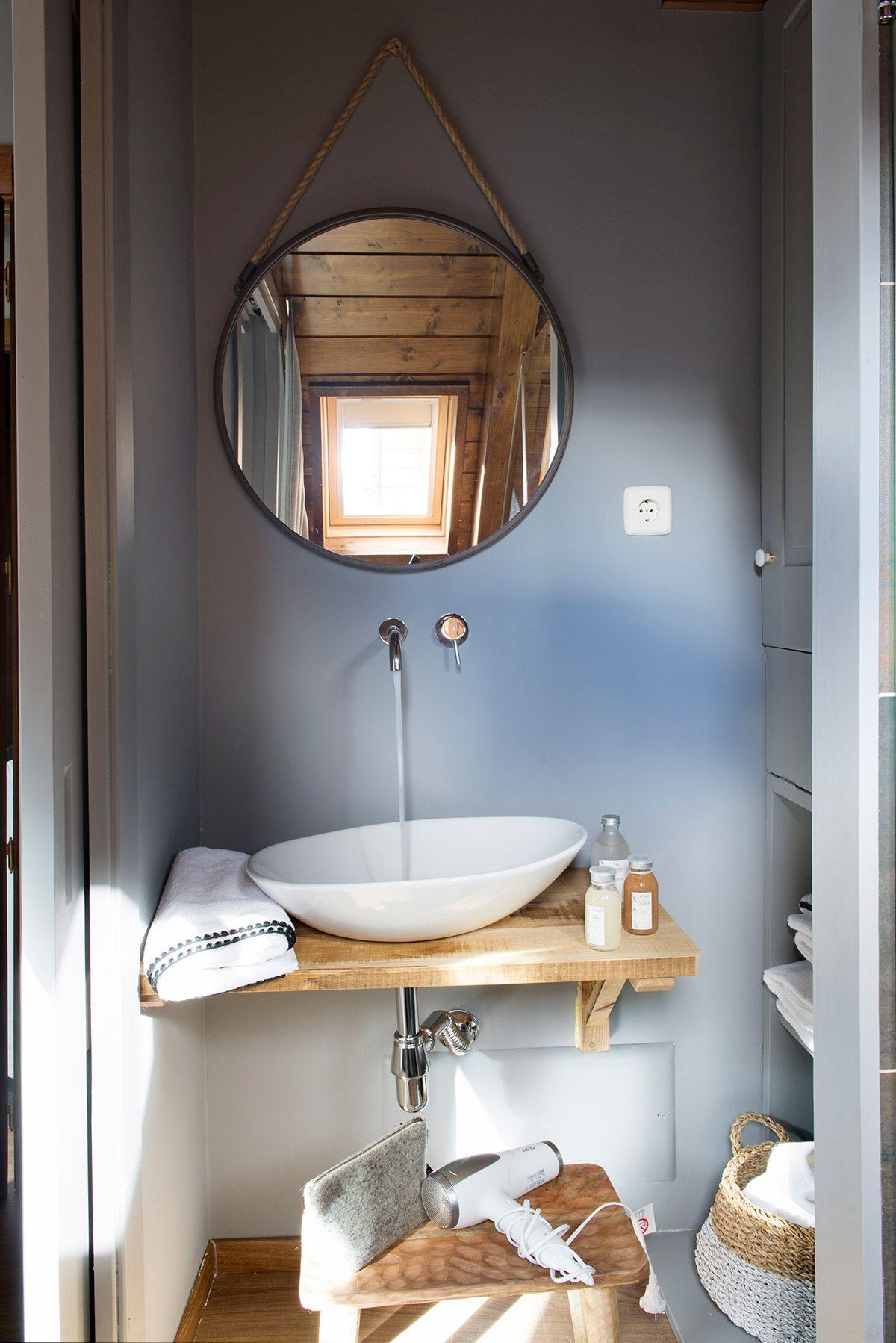 27. Viva el blanco | Espejos para baños, Espejo redondo ...