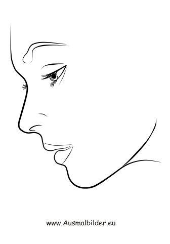 Ausmalbilder Gesicht Im Profil Gesicht Malen Ausmalen Und