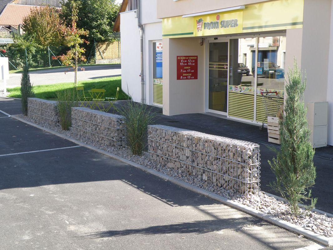 Muret en gabion exterieur pinterest muret ext rieur for Muret exterieur
