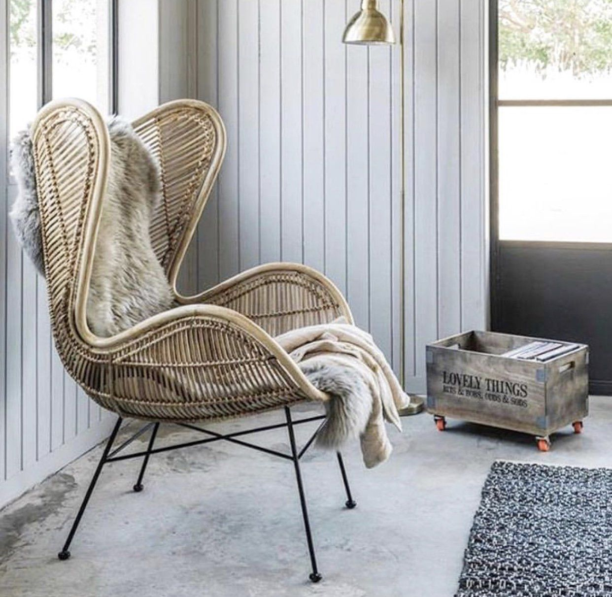 Egg Chair natural HK Living USA (With images) Chair