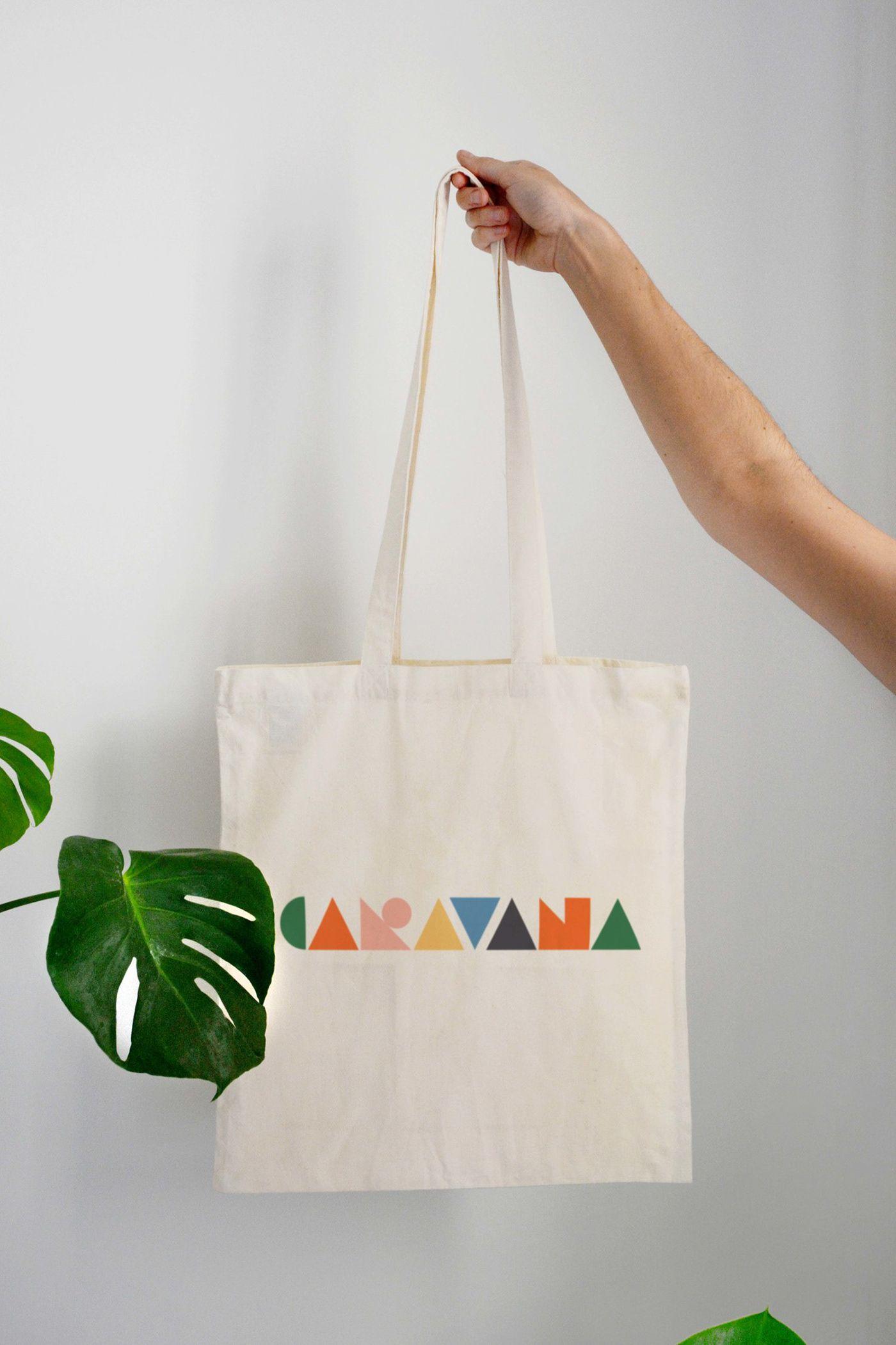 Download Caravana Bed Breakfast On Behance Canvas Bag Design Diy Bag Designs Tote Bag Design