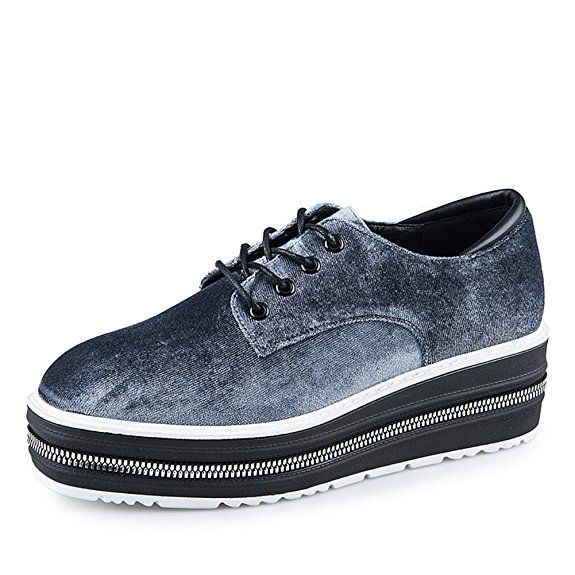 Damen Plateauschuhen Sneakers Sommer Herbst hohe Sohle