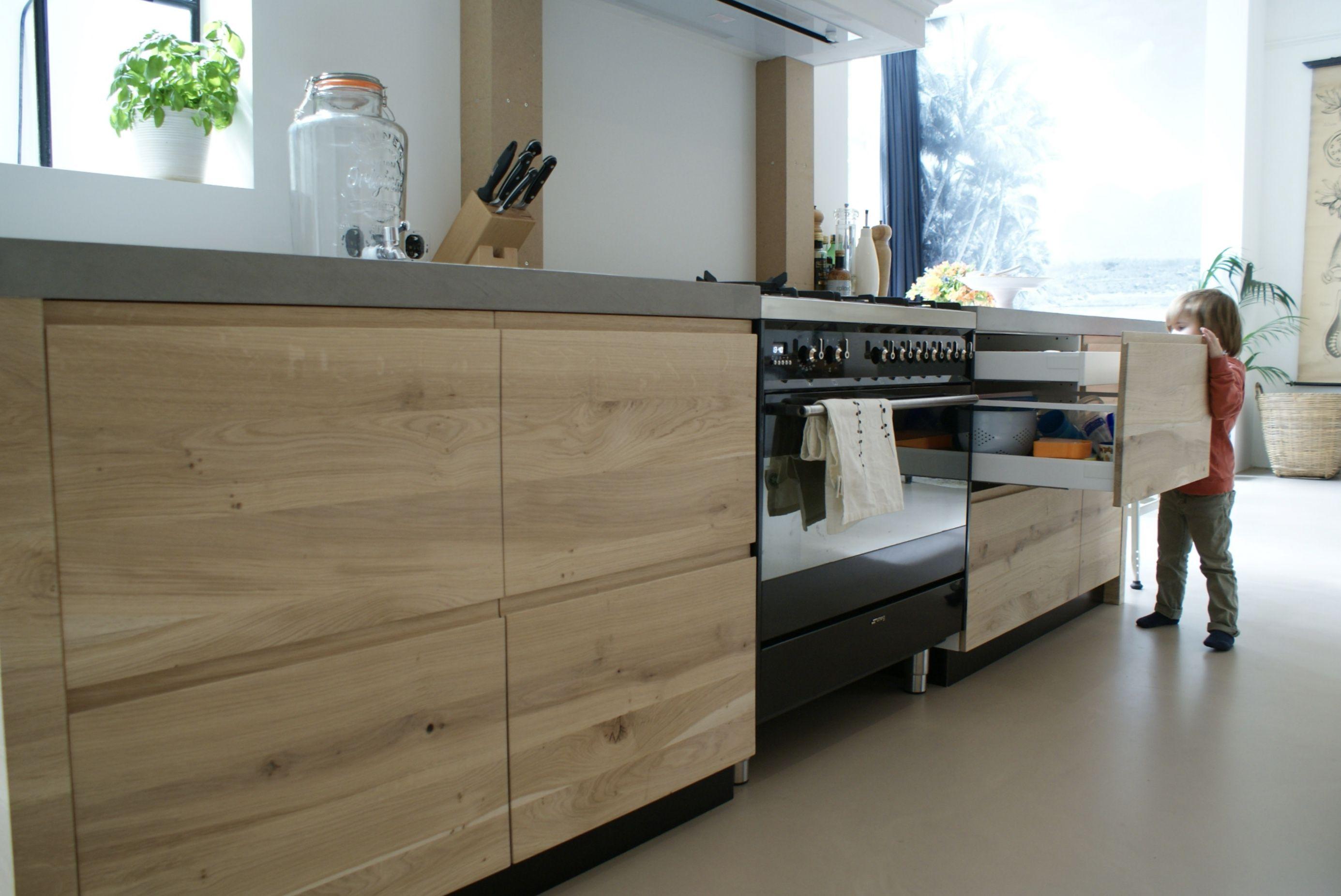 Greeploos Ikea Keuken : Ikea keuken karkas aangekleed door frontz! massief eikenhouten