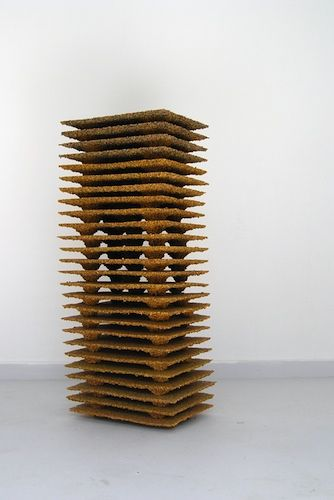 navid nuur - home  (this is a sculpture that is MADE OF POLLEN. it smells like beeswax candles aka like elementary school birthday parties)