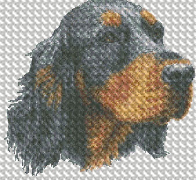 Kit Setter Dog Cross Stitch Chart