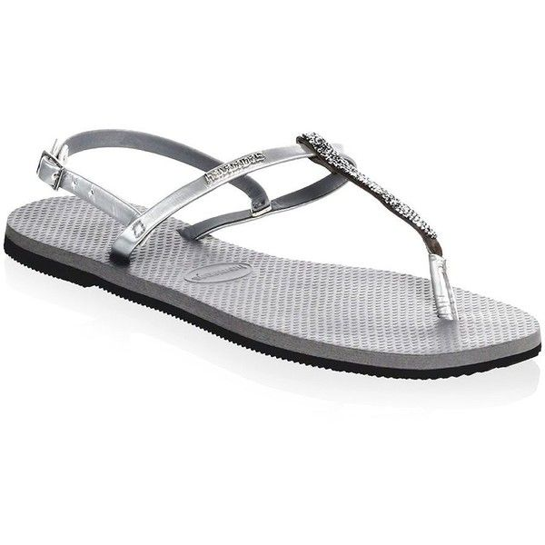 74b933f86ae515 Havaianas You Riviera Crystal Sandals (220 RON) ❤ liked on Polyvore  featuring shoes