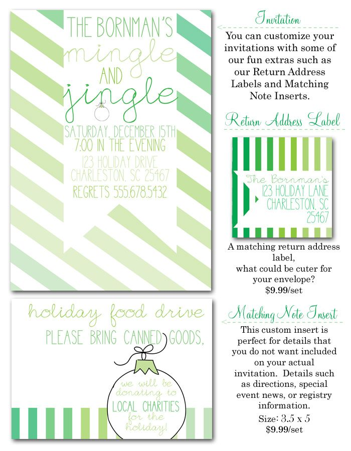 Christmas Cocktails, Christmas party, holiday party, mingle and - holiday party invitation