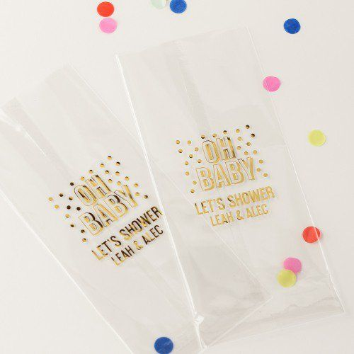 Personalized Baby Shower Cellophane Bags Baby Shower